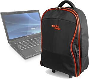 DURAGADGET Lightweight Trolley Style Carry Case - Compatible with Lenovo Ideapad Y500 | Ideapad Z500 | IdeaPad Z585 | Flex 15D & IdeaPad Z50