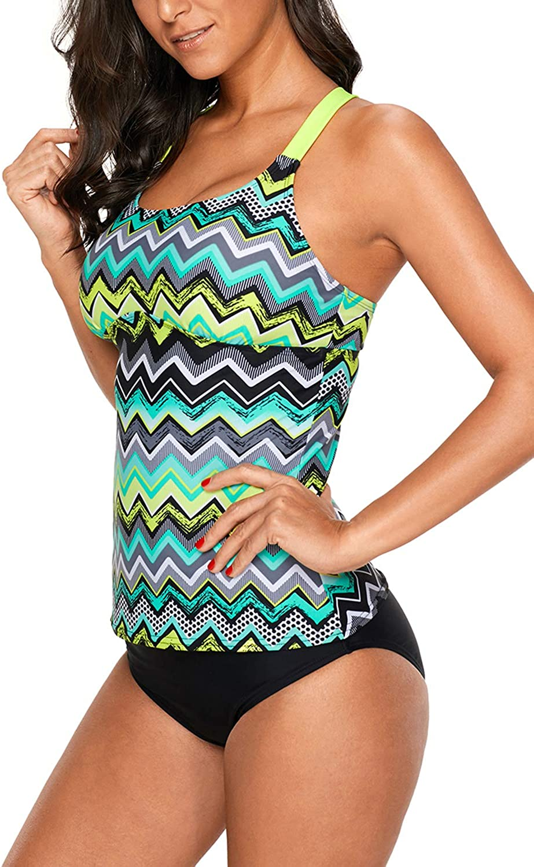 GOLDPKF Womens Swimsuits Bandeau Tankini Striped Printed Racerback Top No  Bottom at Amazon Women's Clothing store