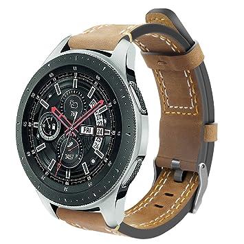 DakTou Correa Compatible con Correa de Reloj Samsung, Correa de Cuero Amarilla Correa de Reloj Deportivo para Samsung Galaxy Watch 46mm: Amazon.es: Deportes ...