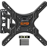 TV Wall Mount Swivel and Tilt Full Motion TV Mount for 26-55 Inch Curved/Flat TVs, Wall Mount TV Bracket with Articulating Ar