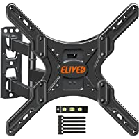 TV Wall Mount Swivel and Tilt Full Motion TV Mount for 26-55 Inch Curved/Flat TVs, Wall Mount TV Bracket with…
