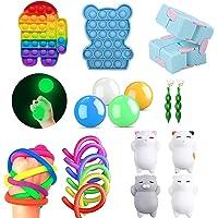 iSayhong Sensory Fidget Toys Set, verlicht stress en angst Fidget speelgoed voor kinderen volwassenen, kubus Top Toy Set…