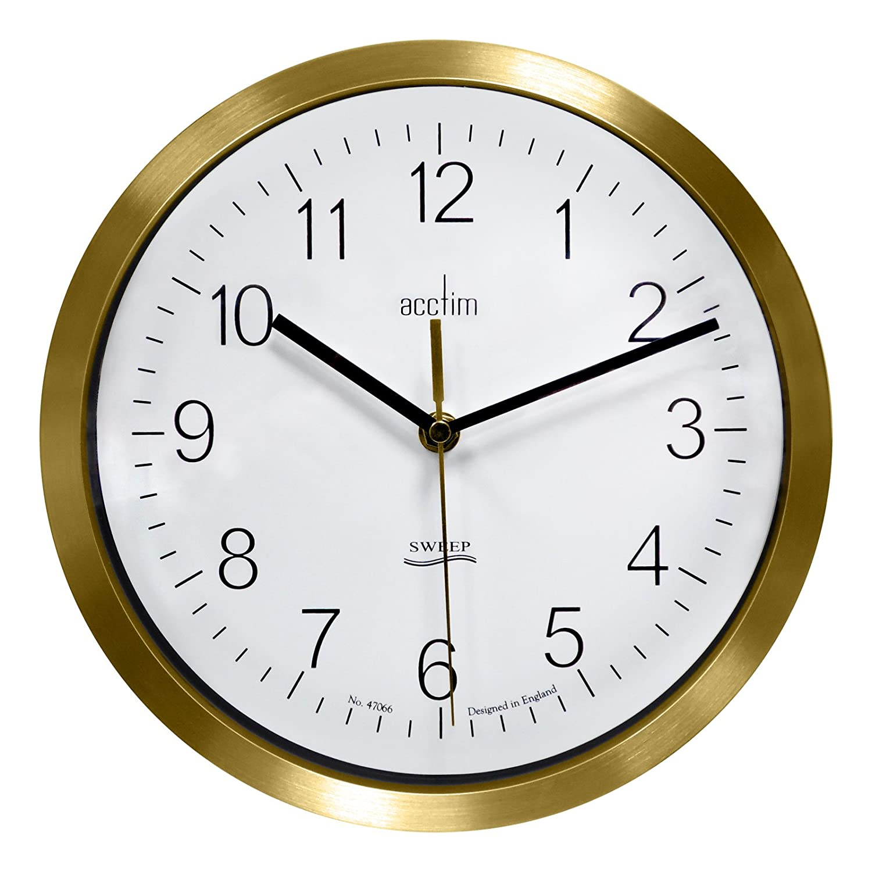 Acctim kenton sweep brass wall clock 27978 amazon kitchen acctim kenton sweep brass wall clock 27978 amazon kitchen home amipublicfo Choice Image