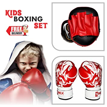 TurnerMAX Rex Leather Punch Bag Boxing Gloves Training MMA Sparring kick Bags