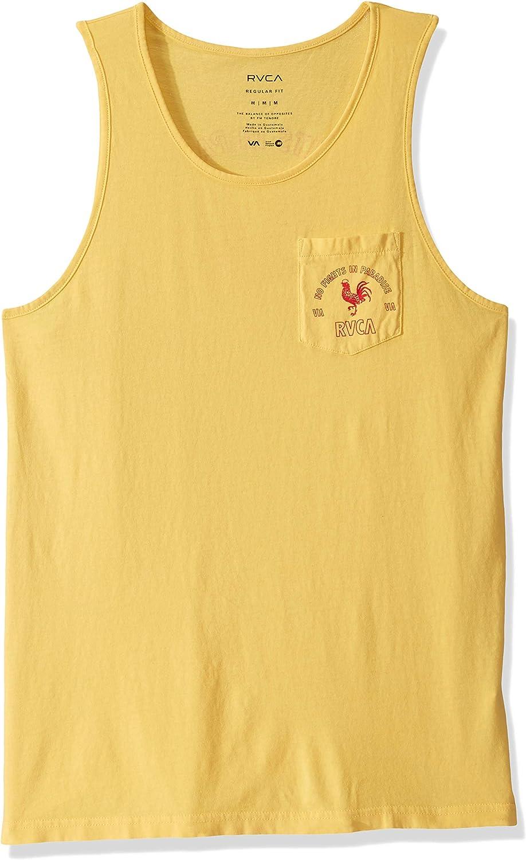 New RVCA VA Balance Box American USA Mens White Tank Top T-Shirt