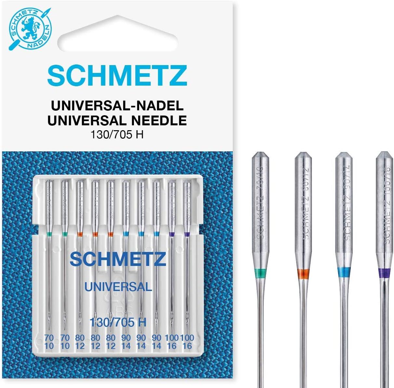 SCHMETZ SB - 10 agujas para máquina de coser, surtidas y Combinadas, multicolor, 10 Universal