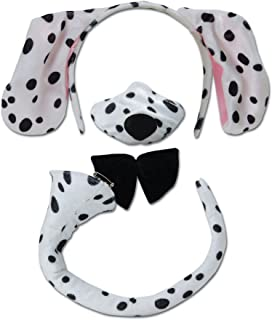 Dalmation ears nose and tail set for kids spotty dog or adults  sc 1 st  Amazon UK & Charlie Crow Dalmatian Costume for kids one size 3-9 Years: Charlie ...