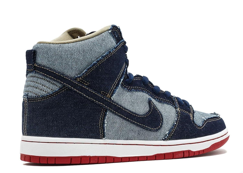 super popular 19e41 5f5fb Amazon.com   Nike Men s SB Dunk High TRD QS, Midnight Navy Midnight  Navy-White   Shoes