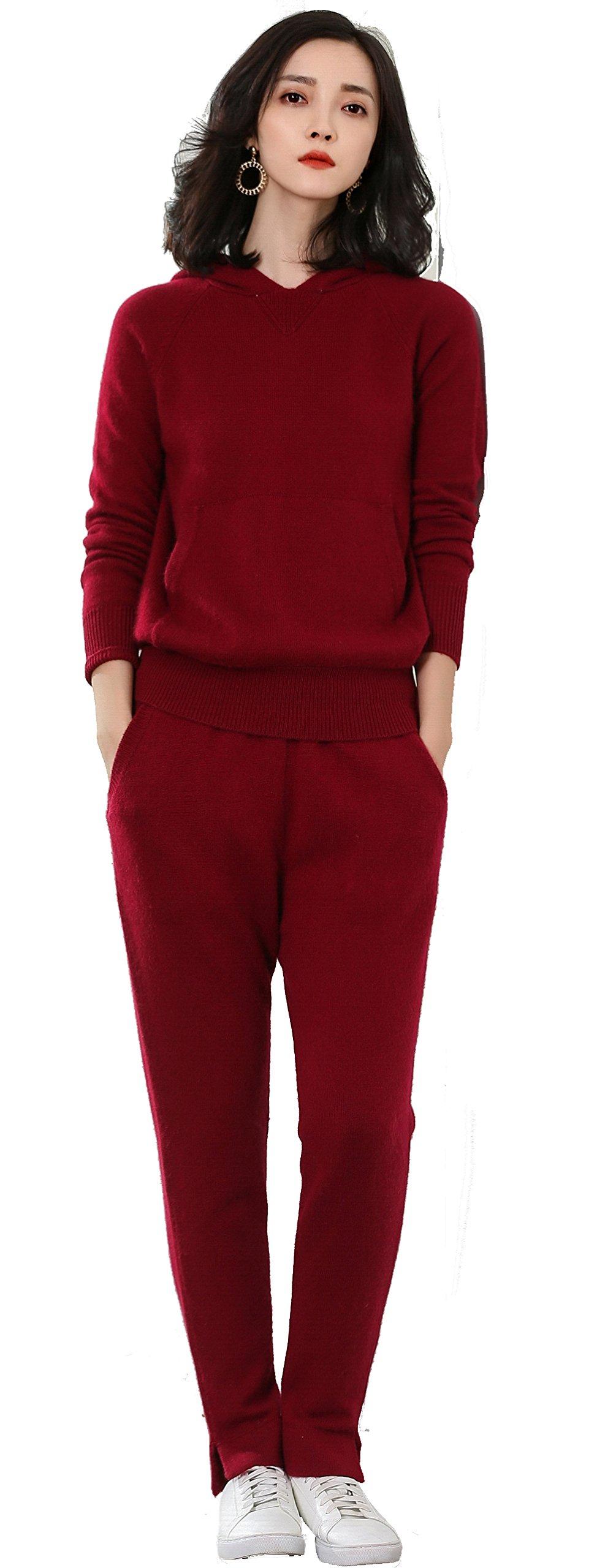 Panreddy Women's Soft Cashme Active 2 Piece Sweater Pants Set
