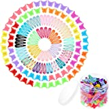 Anezus 100 Pcs Hair Clips Barrettes with 100 Pcs Small Butterfly Hair Clips for Women Girls Hair Accessories