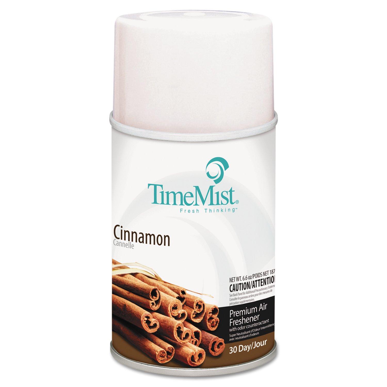 TimeMist TMS 33-5301TMCAPT Metered Aerosol Fragrance Odor Eliminators Dispenser Refills, Cinnamon, 6.6 oz. (Pack of 12)