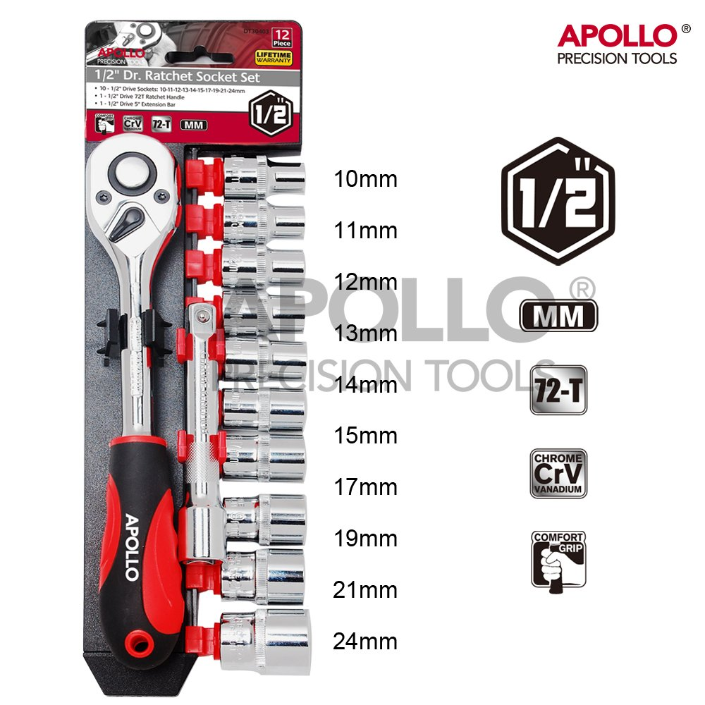Socket Set (C.1/2inch) Hi-Spec Products