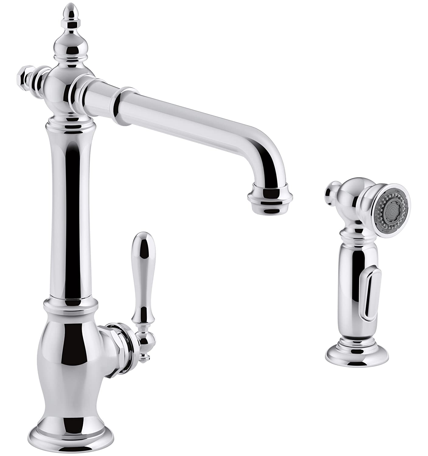 KOHLER K-99265-CP Artifacts Single-Hole Kitchen Sink Faucet with 13 ...