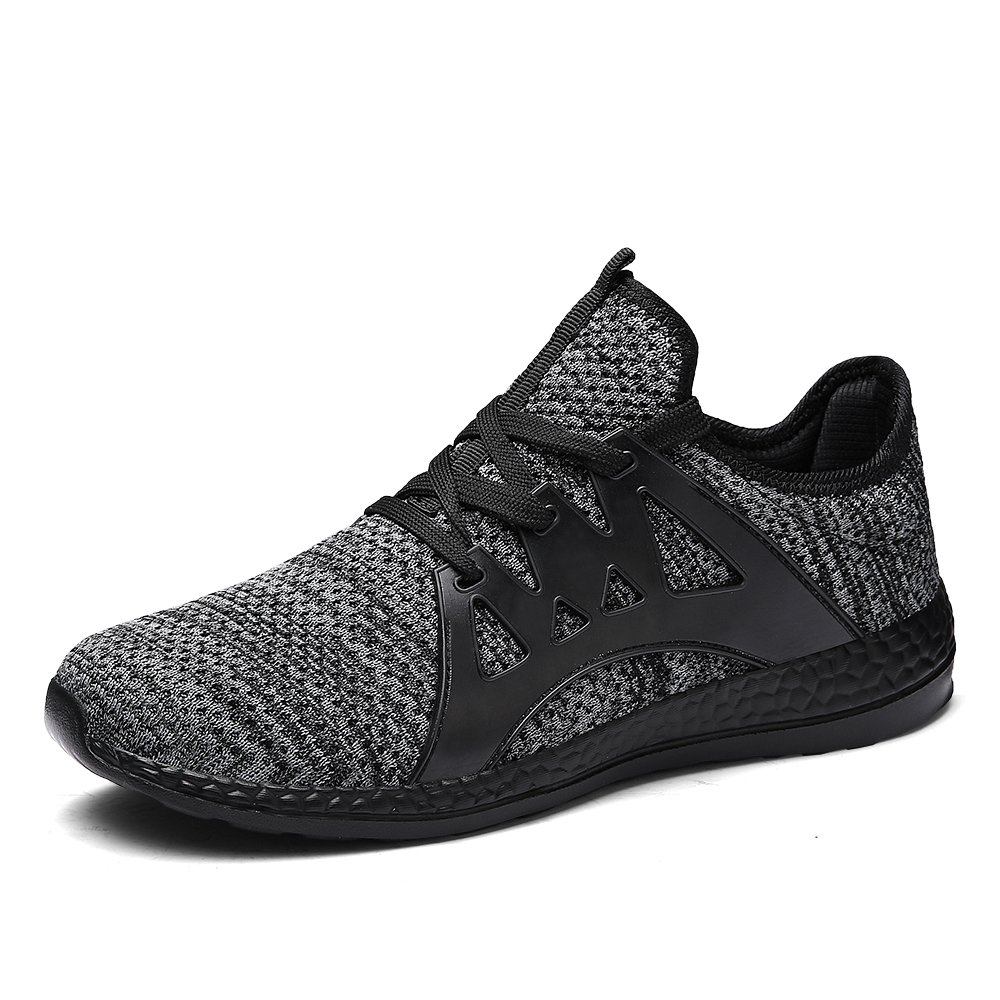 Johnlouise Men's Running Sneakers Lightweight Knit Athletic Shoes for Gym Driving Walking Outdoor Indoor