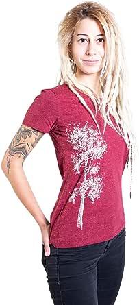 Life Tree Ropa Justa orgánico Camiseta Mujer Kiefer de algodón ...