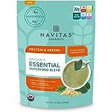 Navitas Organics Essential Superfood Protein Blend(Organic, Non-GMO, Gluten-Free, Plant-Based Protein) Protein & Greens, 10.5