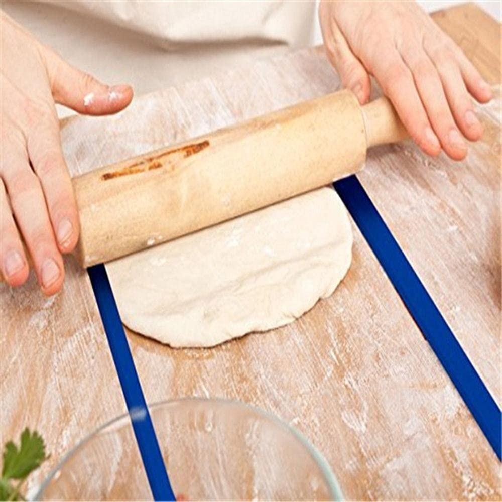 3 pares de tiras de medici/ón de masa de silicona para hornear galletas y fondant 3 tama/ños 2//4//6 mm Tiras de espesor de masa