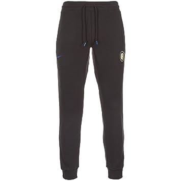 2939ac13e136f7 Nike AW77  Inter Milan Authentic Men s Tracksuit Bottoms Fleece Cuffed  Black black Size XXL