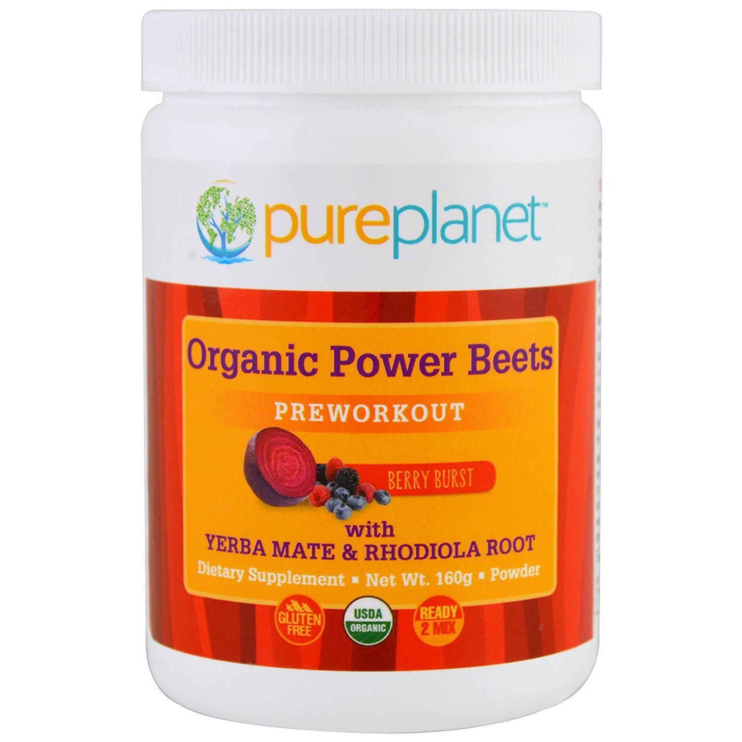 Pure Planet Organic Power Beets Preworkout Berry Burst 160 g