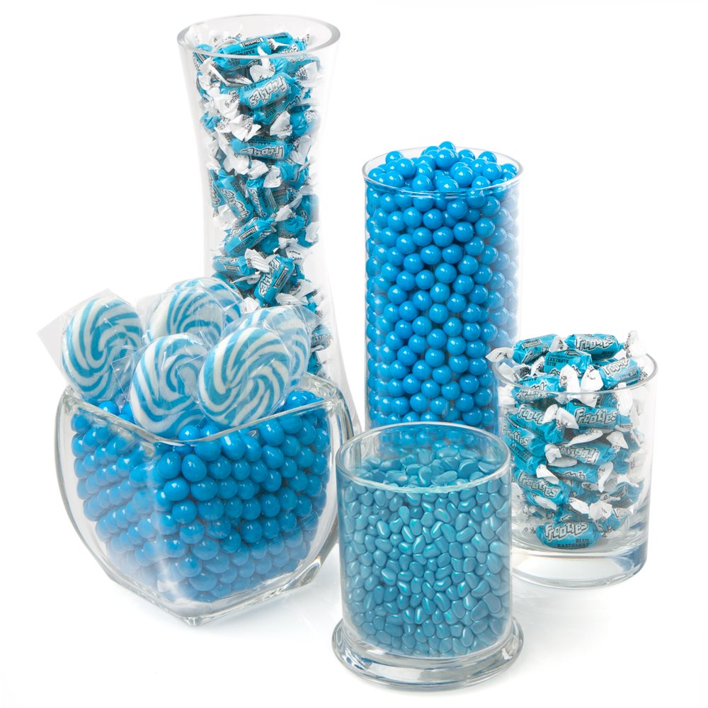 amazon com blue candy kit party candy buffet table hard candy rh amazon com teal candy buffet bags teal candy buffet bags