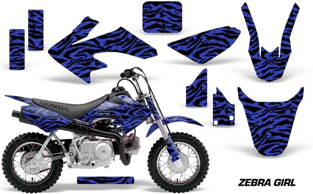 Zebra Girl Blue AMR Racing MX Dirt Bike Graphics kit Sticker Decal Compatible with Honda CRF50 2014-2018