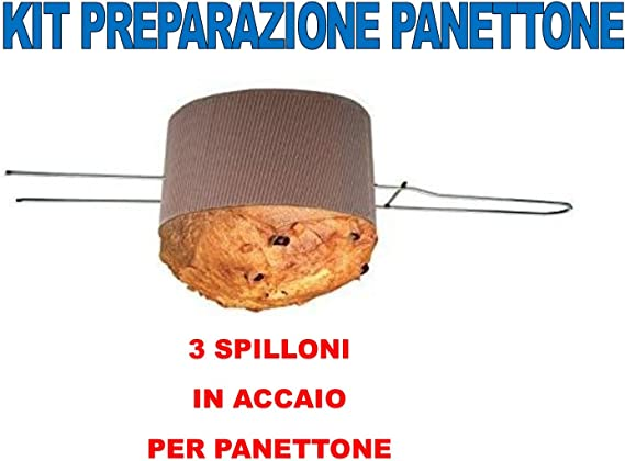 10 Broches Party store web by casa dolce casa Broche pour Panettone ou Colombe en Acier de 50 cm CDC