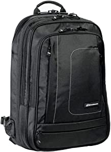 Brenthaven Metrolite Travel Backpack Fits 15.6 Inch Chromebooks, Laptops, Tablets, Plane Carry On Bag - Black, Durable, Rugged Protection from Impact and Compression