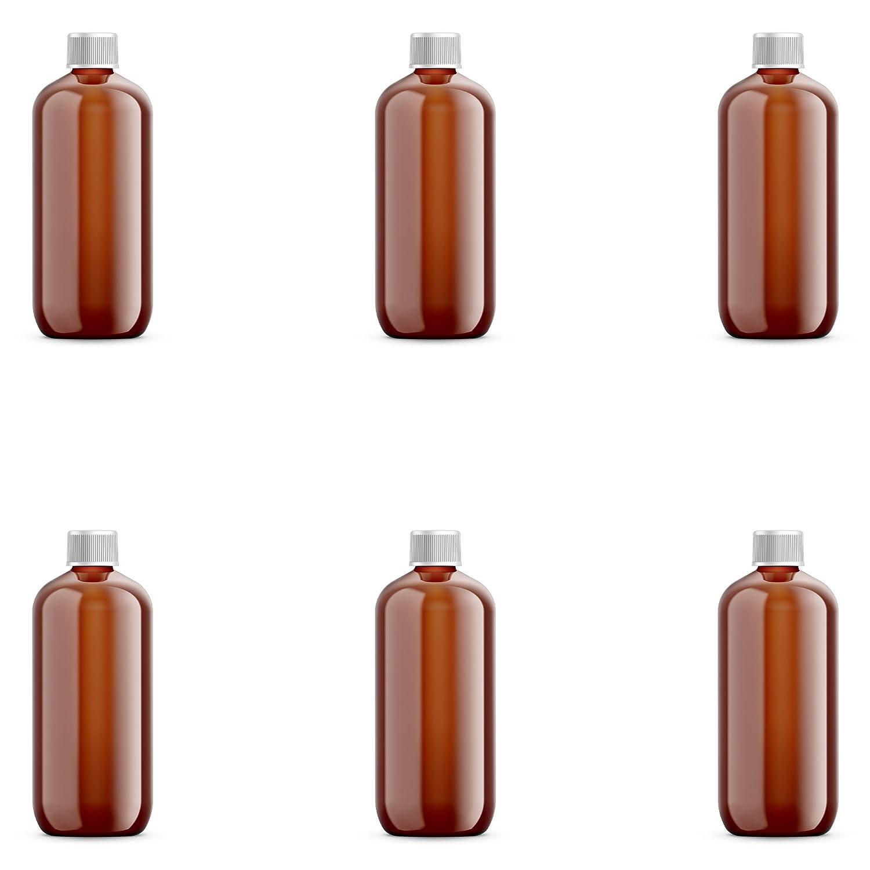 0b0082831a40 Amazon.com: Amber PET Plastic Bottle - Oval 360 ml (12 oz) - 24/410 ...