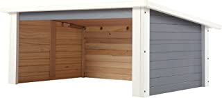 Zelsius copertura in legno per tosaerba robot elettrici., Marrone