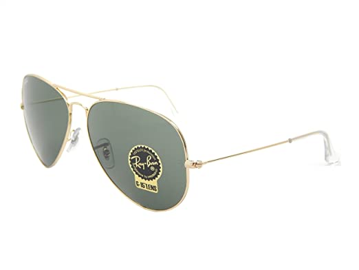 13e8175eaa96c Image Unavailable. Image not available for. Color  Ray Ban Aviator RB3026  L2846 Gold  Green Classic 62mm Sunglasses