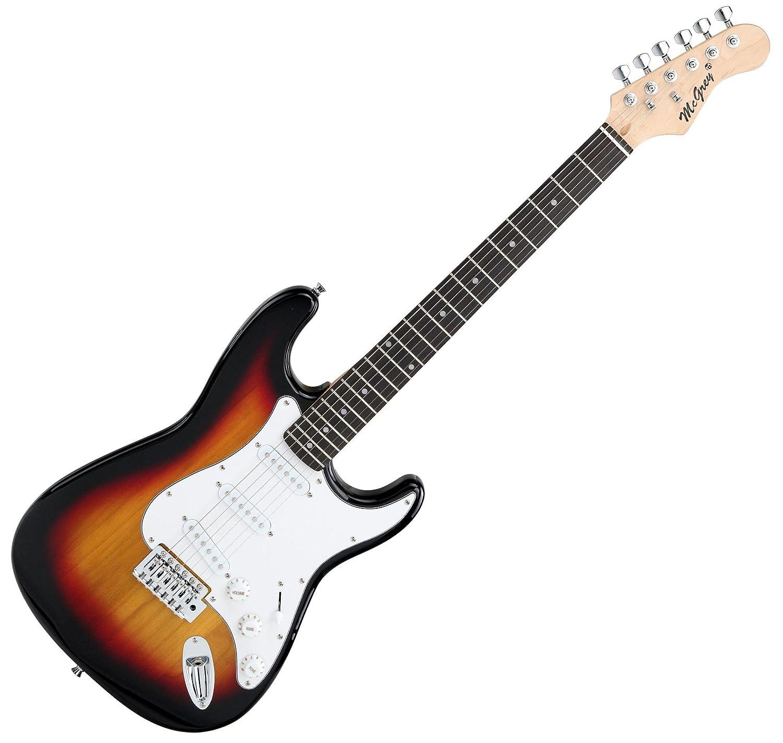 McGrey Rockit guitarra eléctrica set completo ST Sunburst: Amazon.es: Instrumentos musicales