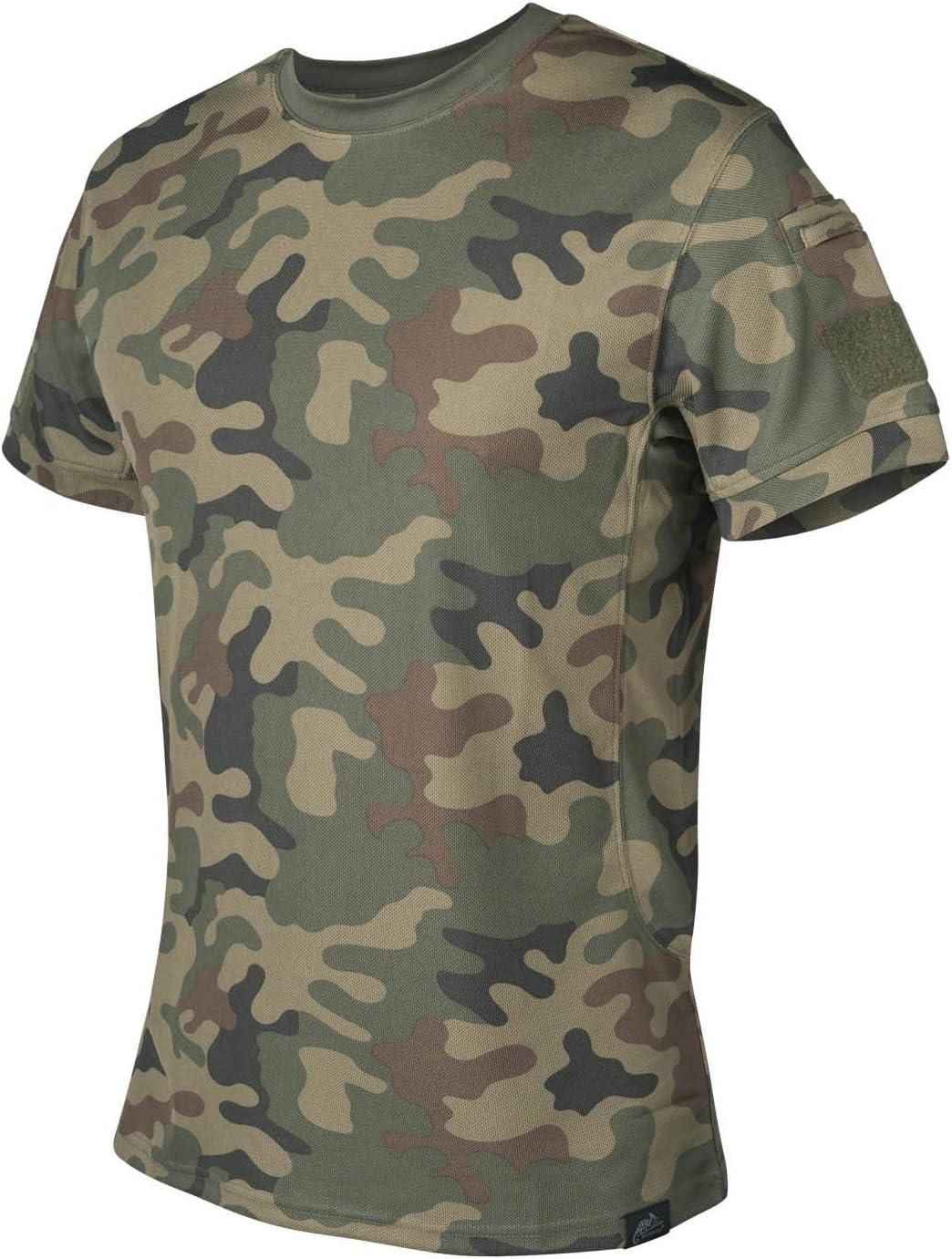 Helikon Hombre T-shirt Camiseta táctica PL Woodland: Amazon.es ...