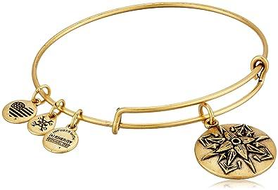 05a2dc12e Alex and Ani Healing Love Expandable Rafaelian Gold-Tone Bangle Bracelet