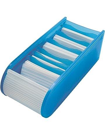 Wedo 2508003 - Tarjetero de escritorio, azul