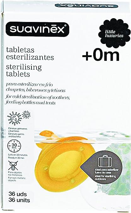 Tabletas de esterilización para biberones y tetinas 36 unidades