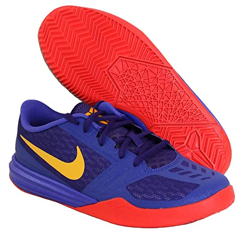 new product 70547 90b56 Nike Kids Kb Mentality (GS) Basketball Shoes 705387 500 Persian Violet University  Gold Court Purple Size 5Y  Buy Online at Low Prices in India - Amazon.in