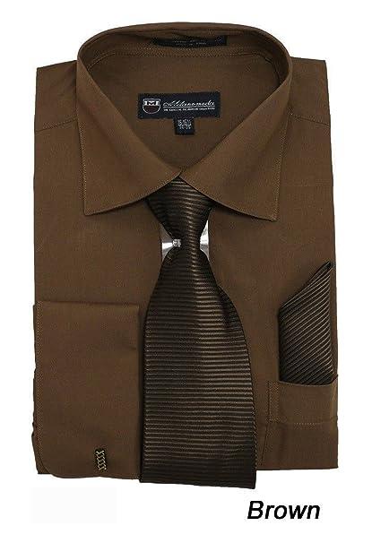 Amazon.com: Fortino Landi sólido clásico vestido camisa con ...