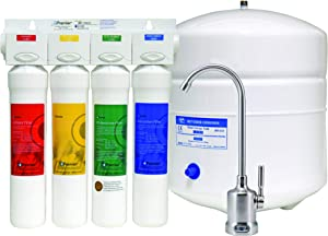 Watts Premier WP531407, RO Pure with Brushed Nickel faucet 4-Stage Reverse Osmosis Water Filtration System