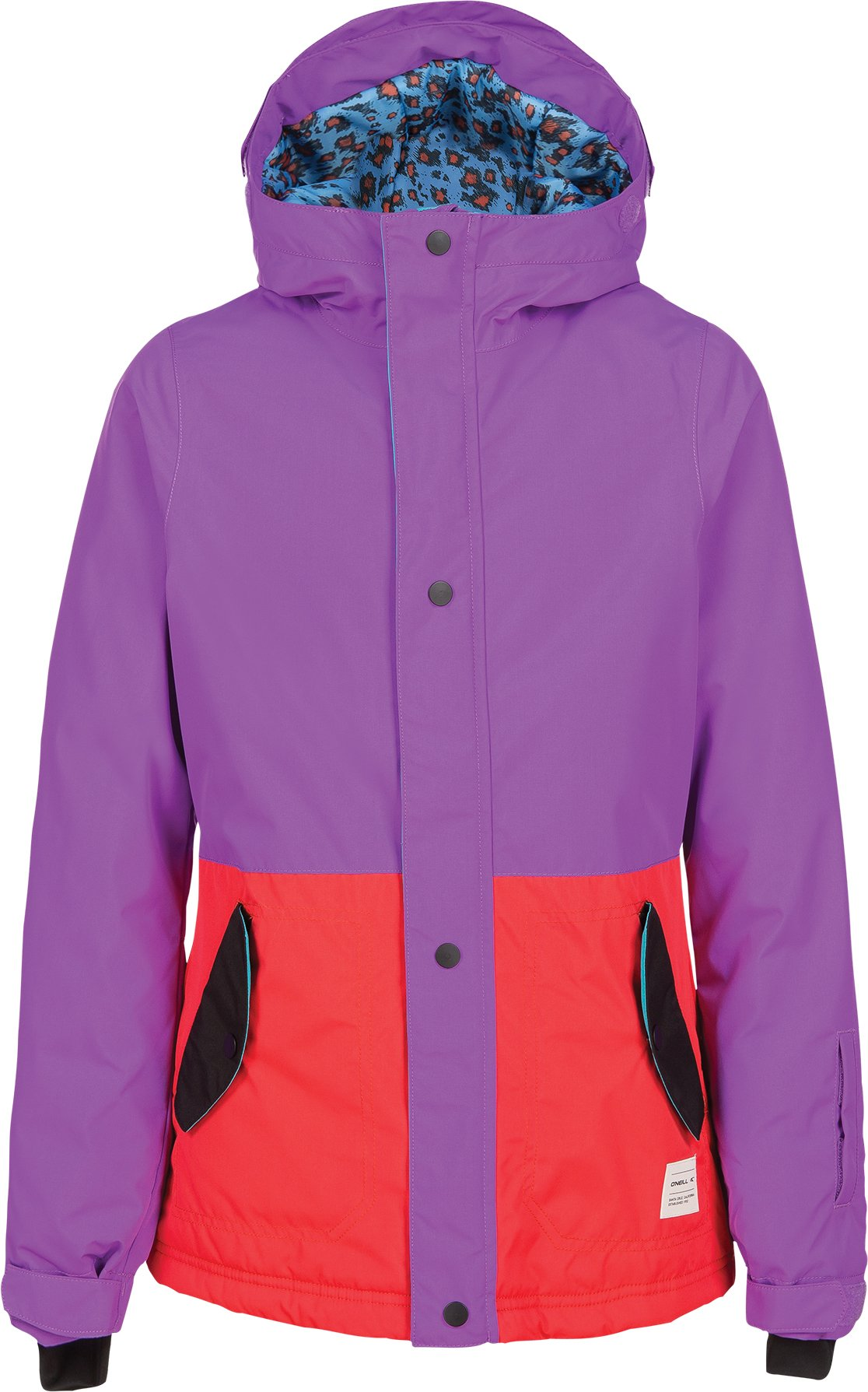 O'Neill Girls Flare Jacket, Grape Soda, Size 8