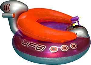 """45"""" Water Sports Inflatable UFO Squirter Spaceship Ride-On Swimming Pool Float"""