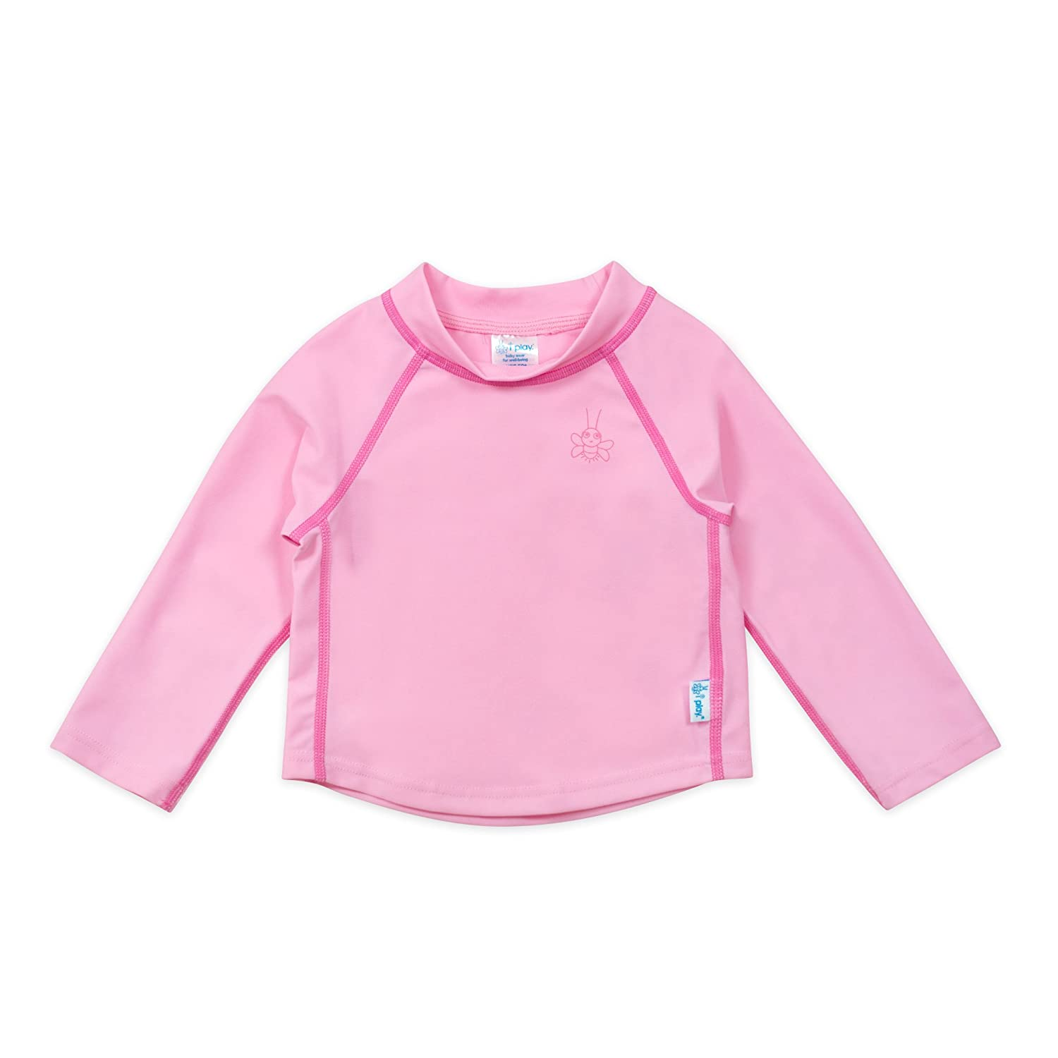 I-Play. Baby Long Sleeve Rashguard Shirt, Light Pink, 12 Months 770100