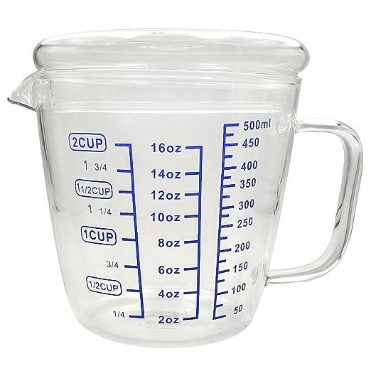 daycount 500 ml/ - 2 taza taza de medir con una escala de cristal ...