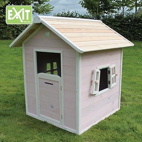 EXIT Beach 100 Wooden Playhouse - Pink Casa de Juegos de Suelo - Casas de Juguete