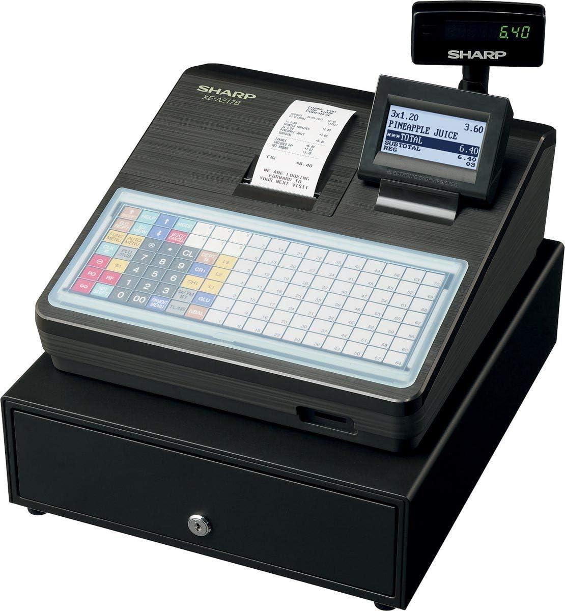 Sharp Caja registradora electrónica XE-A217B - negra: Amazon.es: Informática