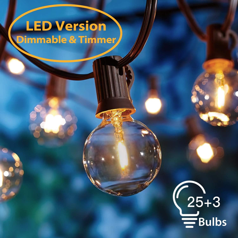 Guirnaldas luminosas de Exterior,[LED Versión] OxyLED G40 8.3 ...
