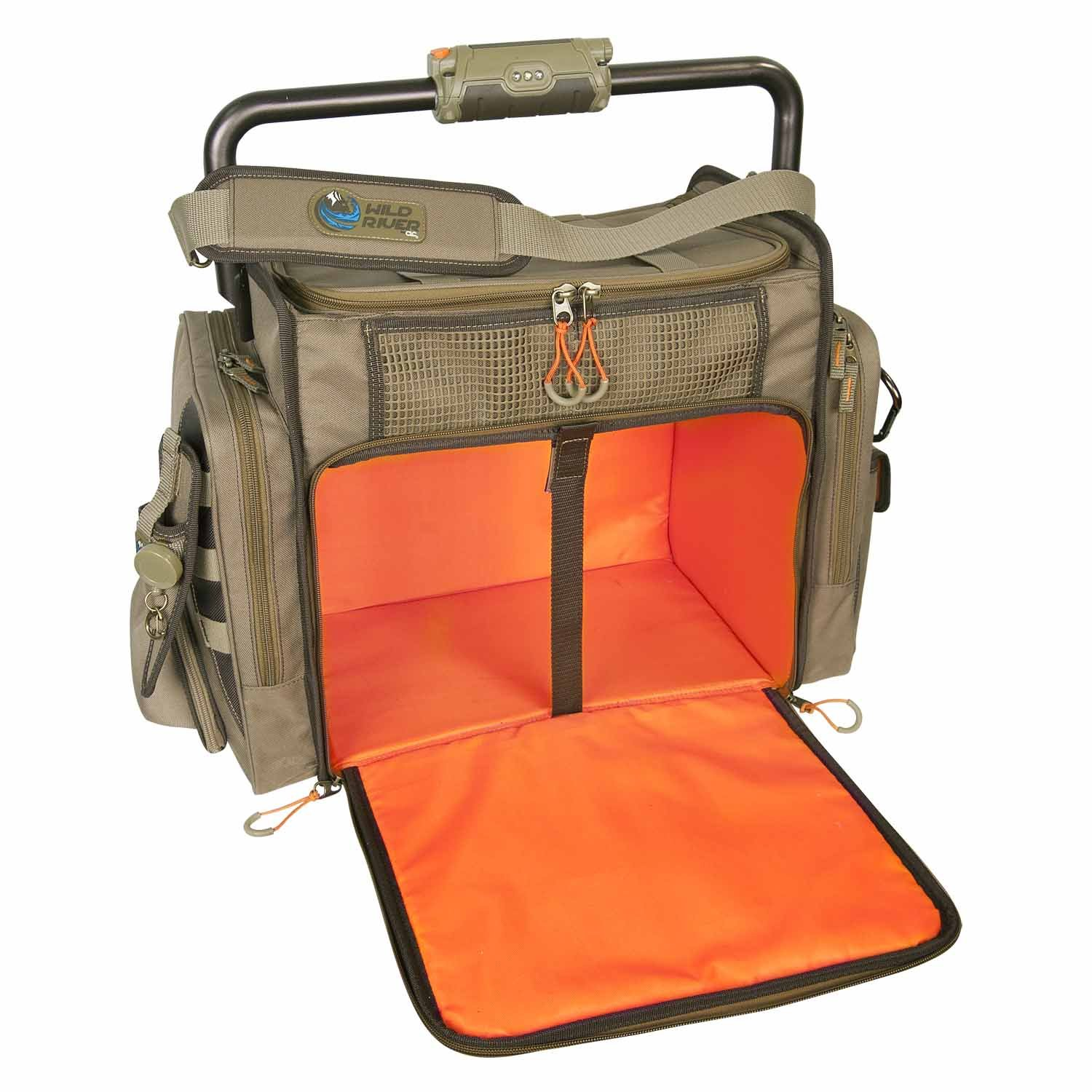 Wild River by CLC Custom Leathercraft WN3702 Tackle Tek Frontier Lighted Bar Handle Tackle Bag (Trays Not Included) by Custom Leathercraft