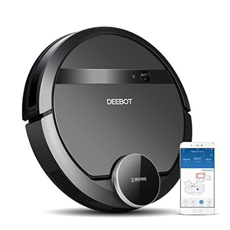 ECOVACS DEEBOT 901 Smart Robotic Vacuum for Carpet, Bare Floors, Pet Hair, with Mapping Technology, Higher Suction Power, WiFi Connected and ...