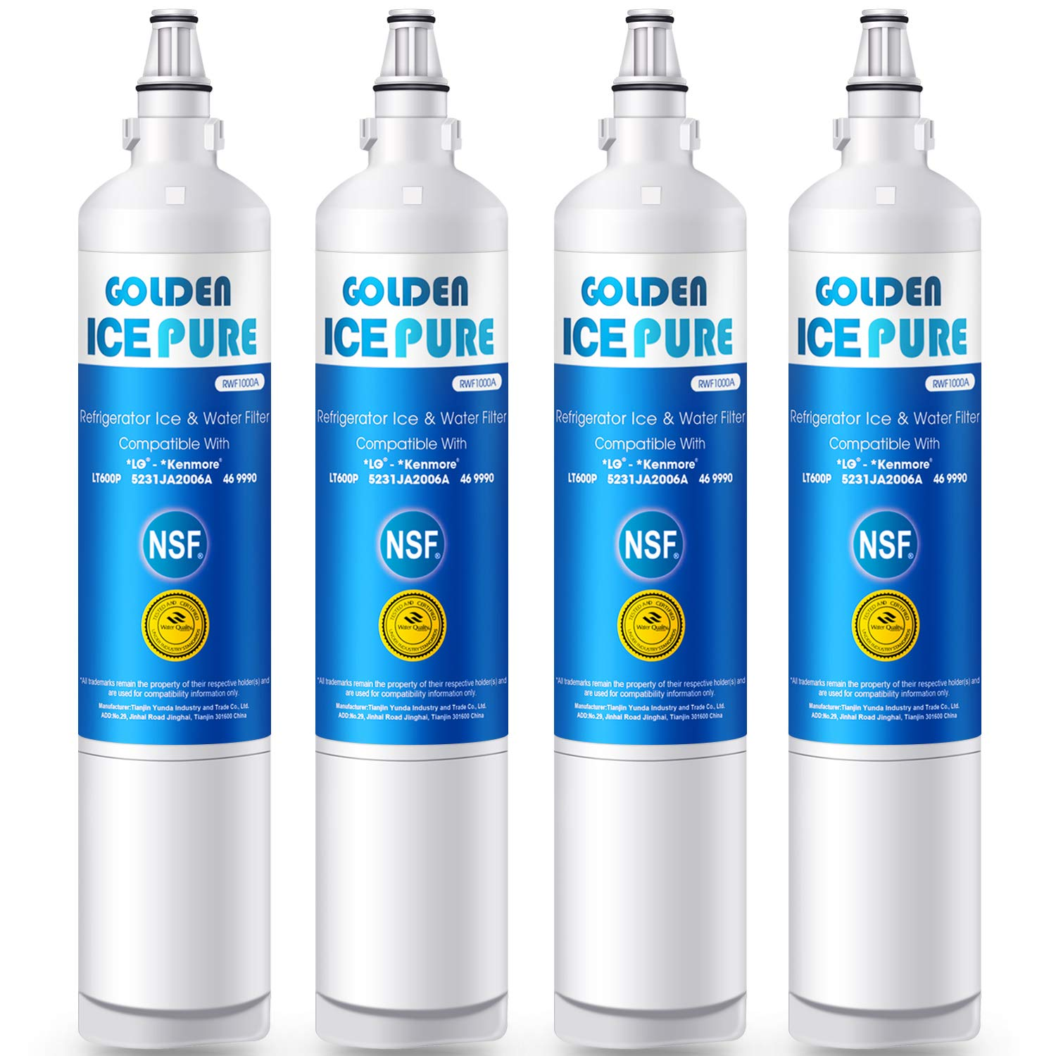 4 Pack Fits Kenmore 469890 Refrigerators Refresh Replacement Water Filter