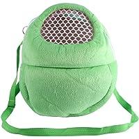 Pet Carrier Bags Hamster Rat Hedgehog Rabbit Sleeping Bag Breathable Portable Outgoing Travel Handbags Backpack With Shoulder Strap ( Color : Green )