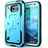 i-Blason Case Designed for Galaxy S6 Active, Armorbox Series [Dual Layer] Hybrid Full-body Protective Case with Built-in Screen Protector for Samsung Galaxy S6 Active 2015 Release (Blue)